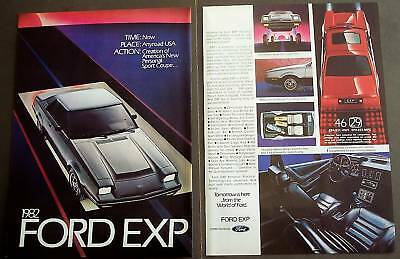 1981 Ford EXP automobiles original 2pg Car Ad