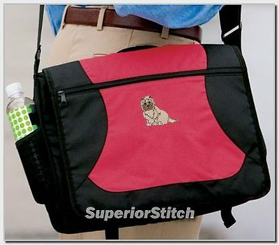 CAIRN TERRIER embroidered messenger bag ANY COLOR