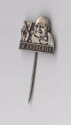 Vintage WINSTON CHURCHILL pin badge 1960s pins Prime minister UK WWII JOB LOT