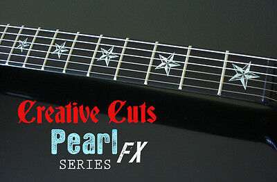 Nautical Star MOP & BLACK PEARL Fret Marker Inlay Decal for Taylor or ANY GUITAR