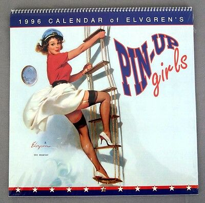 1996 2024 Gil Elvgren Pin-Up Girls Calendar FACTORY SEALED 12 IMAGES
