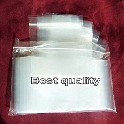 """100 Ziplock 2"""" x 3"""" Clear Plastic Poly resealable Jewelry BAGS 2 Mil TOP QUALITY"""