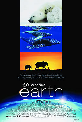 EARTH MOVIE POSTER 2 Sided ORIGINAL FINAL 27x40