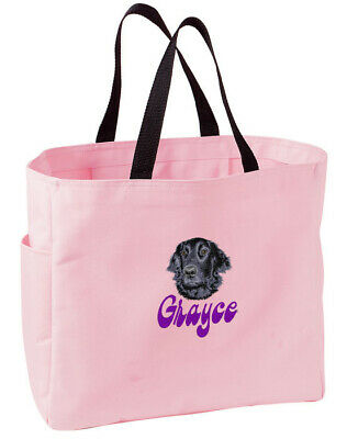 FLAT COATED RETRIEVER essential tote ANY COLOR