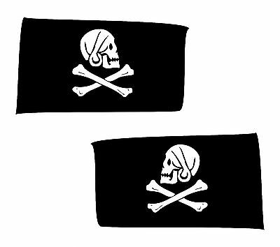 2x skull sticker Motorcycle Gas Tank car bumper decal 9
