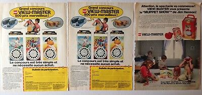 Lot Publicites Annees 70 Special View Master // Muppet Show
