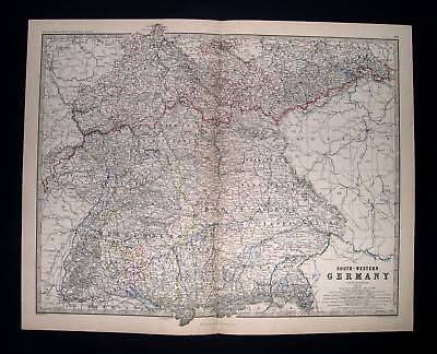 1869. BLACKWOOD. South Western Germany - Atlas major.