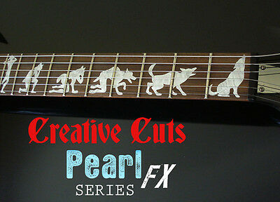 Man To Wolf James Hetfield ESP EX MOP Inlay Sticker Decal for DIY GUITAR Project