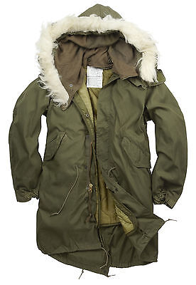 New Original Us M65 Fishtail Parka Lined Hooded Xs, S,  M,  L