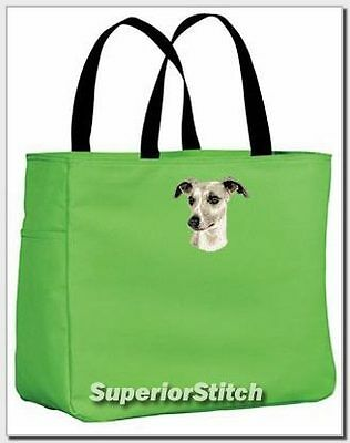WHIPPET embroidered essential tote bag ANY COLOR
