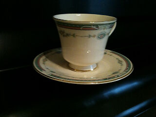 "Cup and Saucer, English Fine Bone China, ""Radcliffe"""