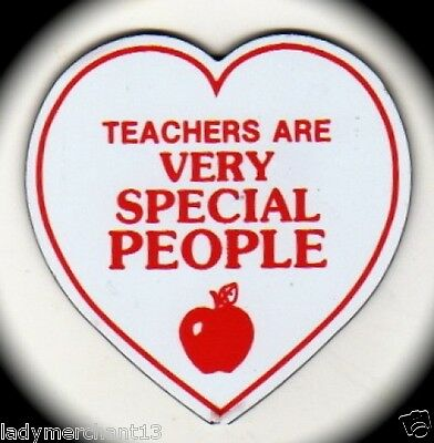"""TEACHERS ARE..."" Heart Shaped/Apple Magnets/25/NEW!"