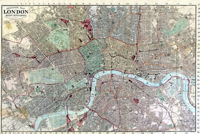 Indicator Map of London 1880 C. Smith & Son