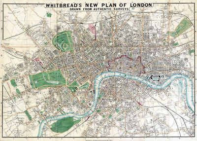 Whitbread's New Plan of London 1853