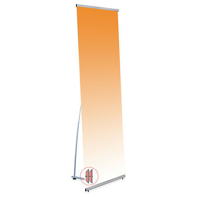 Messe Banner Roll Up Display 197x60cm Quick L-Banner
