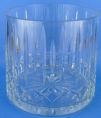 Clear Crystal Glass Ice Bucket Criss Cross Vertical**