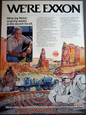 1981 Jay Stone EXXON drilling for oil vintage ad
