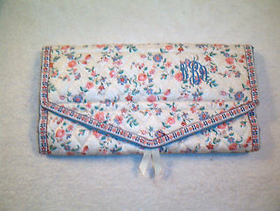 Vera Bradley Jewelry Pouch, Cream And Roses