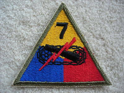 WW2 US Army 7th Armored Division cloth patch  - Tanks