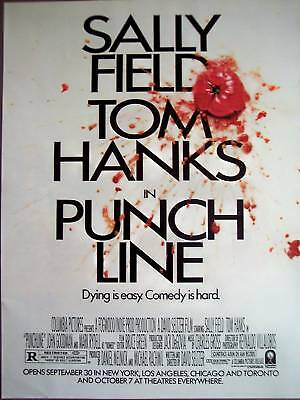 "1988 ""Punch Line"" Sally Field Tom Hanks movie promo ad"
