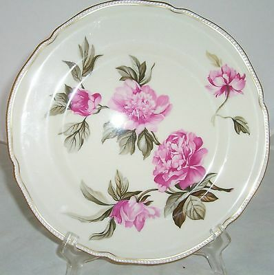 Castleton Peony Pink Dinner Plate S Gold