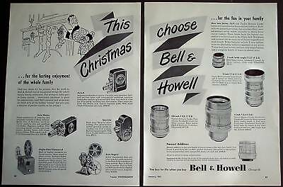 1951 Bell & Howell Cameras equipment 2pg X-Mas Ad