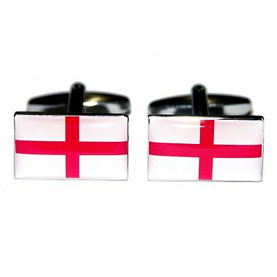 England Flag Cufflinks in Gift Box George Cross