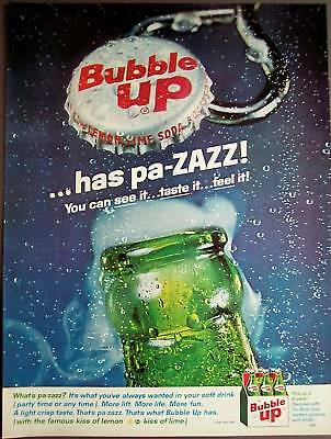 1963 BUBBLE UP has pa-ZAZZ vintage soft drink ad