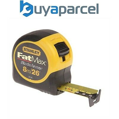 Stanley 8m 26ft FatMax Tape Measure with Blade Armor STA033726 0-33-726