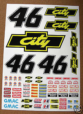 RC Nascar 'Days Of Thunder' Decals Stickers Tamiya Xray