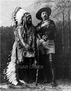 1885 Chief Sitting Bull & Buffalo Bill Studio Photo