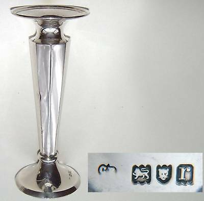 Silver Weighted Spill Vase-Charles Edwards-London 1912