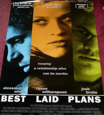 Cinema Poster: BEST LAID PLANS 1999 (One Sheet) Witherspoon