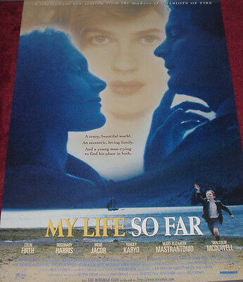 Cinema Poster: MY LIFE SO FAR 1999 Colin Firth