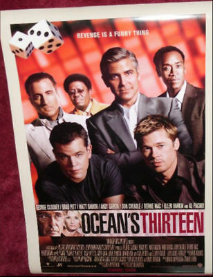 Cinema Poster: OCEAN'S 13 2007 (Main One Sheet) George Clooney Brad Pitt