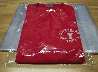 "300 9"" x 12"" Clear Poly T- Shirt Plastic Apparel Bags 2"" Flap *BEST QUALITY*"
