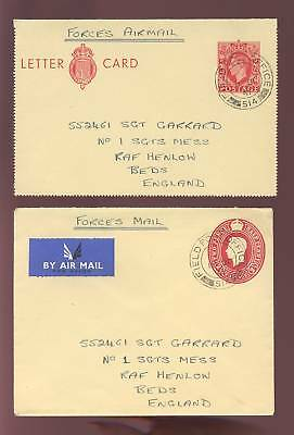 Gb Kg6 Stationery Army Fpo Greece 1951 Env+Lettercard