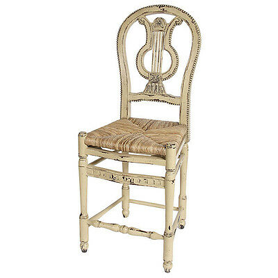 Miraculous French Country Distressed Lyre Counter Height Barstool Set Ncnpc Chair Design For Home Ncnpcorg