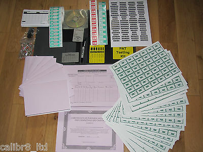 Expert PAT Testing Kit. Labels, Log Books, Forms, CD...Over 1000 labels included