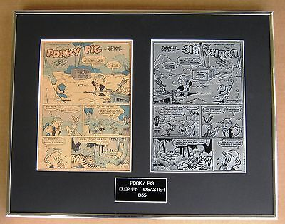 Porky Pig Vintage Printing Plate & Cover Page !