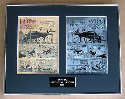 Porky Pig Vintage Printing Plate & Comic Title Page !