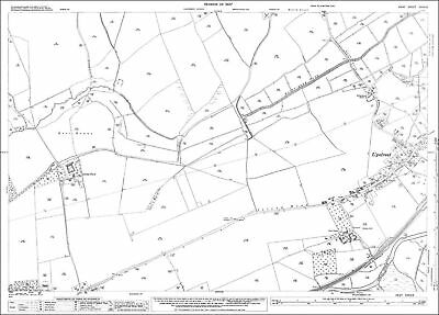 Upper Halling OS Kent 18-16-1936 old map repro