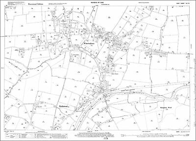 OS Kent 41-12-1938 old map repro north Wateringbury Nettlestead