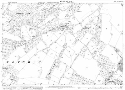 OS Kent 25-NW-1908 old map repro Westgate west Birchington