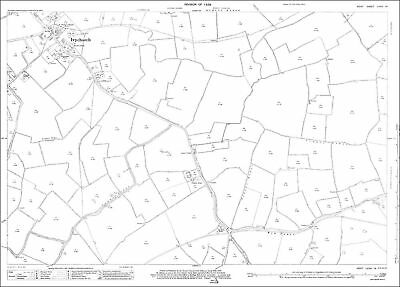 Warden OS Kent 14-14-1933 old map repro