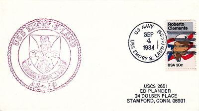 1984 Uss Emory S Land As-39 Navy Submarine Tender Cover