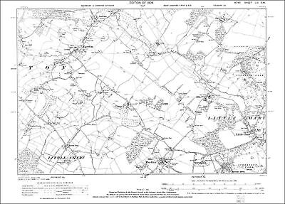 Small Hythe OS Kent 79-NE-1909 old map repro