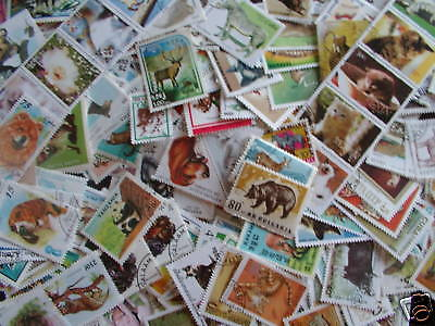 Promotion Timbres Animaux : 1000 Timbres Tous Differents / Animal Stamps