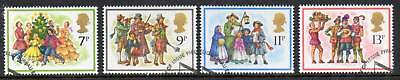 GB 1978 Christmas fine used set stamps