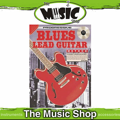 Progressive Blues Lead Guitar Method Book with CD New